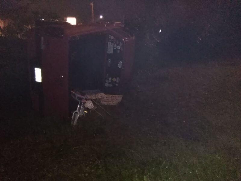 red vehicle in car crash in jax