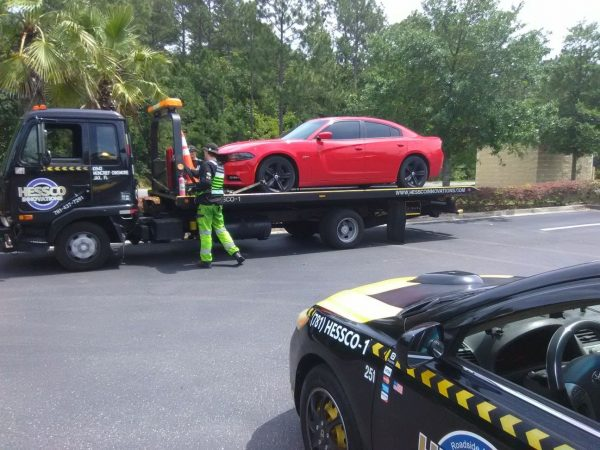 Red Hell Cat in need of towing jacksonville